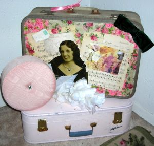 GREAT vintage luggage, altered. Thanks, Sue!
