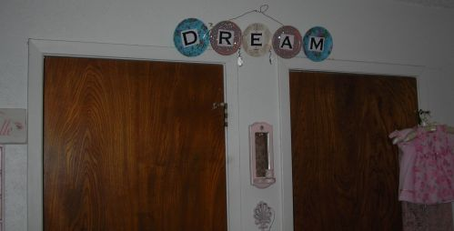 'Sue's Dream' hangs over my bedroom closet doors ... that's the view from my bed. Sweet dreams!