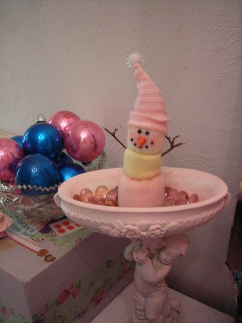 sweet marshmallow snowman!