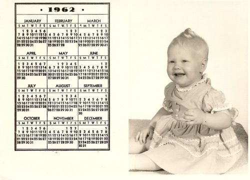 i love, i love, i love my little calendar girl! 1962 was a VERY good year!