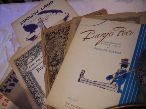 vintage sheet music ... most from the 30s and 40s